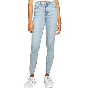 Top Shop High Waisted Jamie Light Wash Jeans